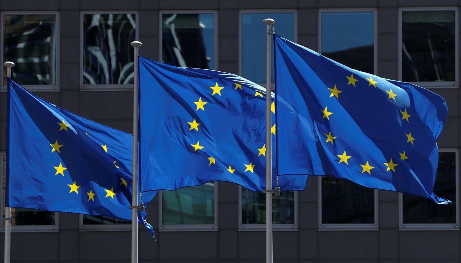 Euroopa Liidu lipud.headquarters in Brussels