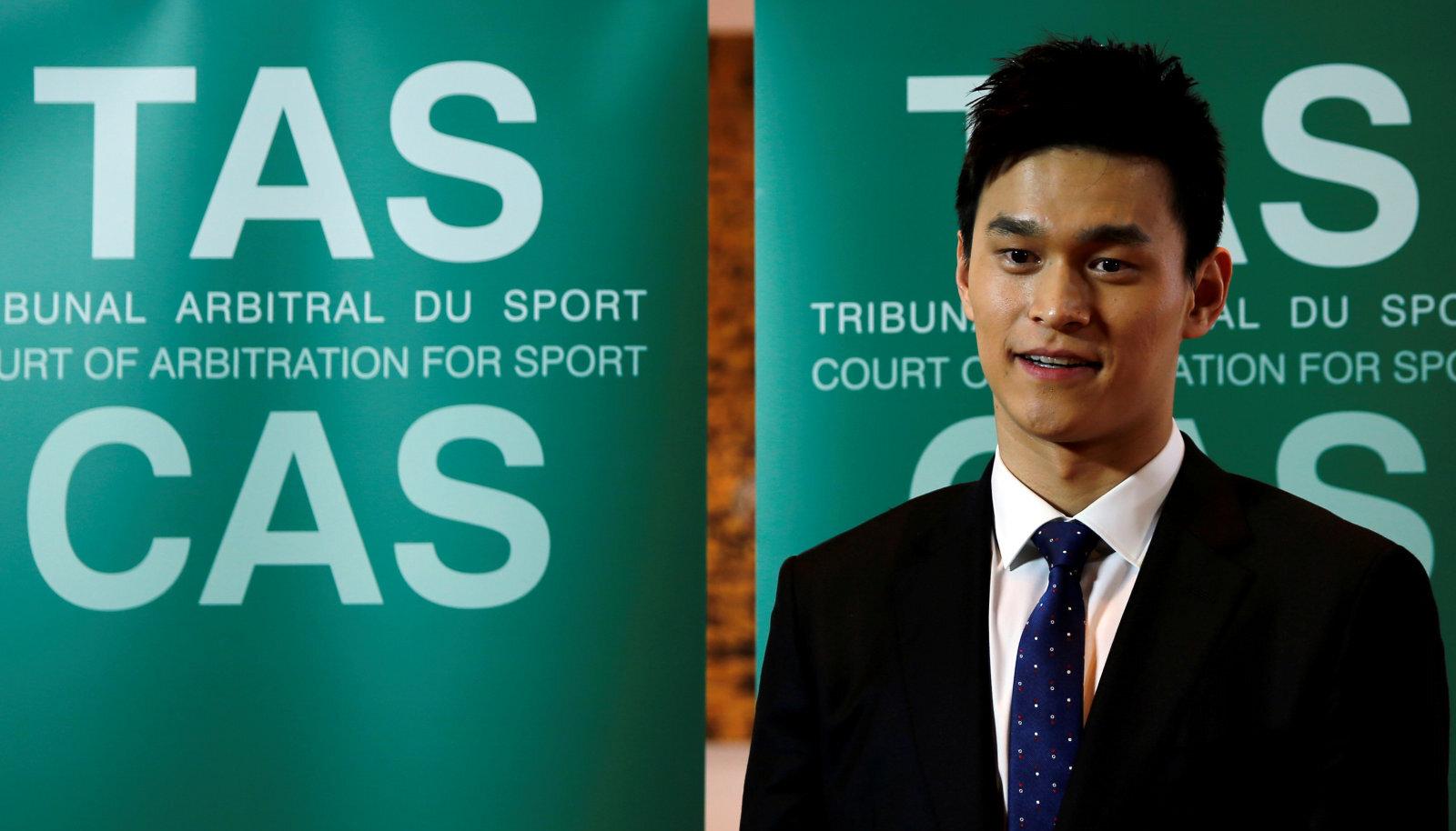 Sun Yang mullu novembris rahvusvahelise spordikohtu istungil Šveitsis.