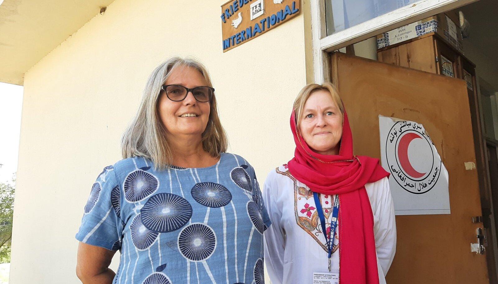 PÄÄSTJA: Claudia Peppmüller (paremal) evakueerus Afganistani pealinnast Kabulist möödunud nädalal.
