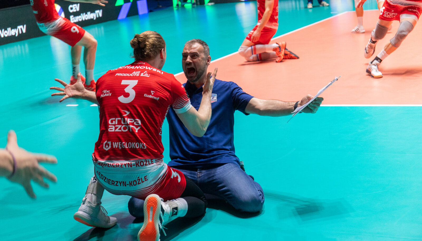 Tehtud! Zaksa mängijate ja peatreeneri Nikola Grbici joovastus oli piiritu.
