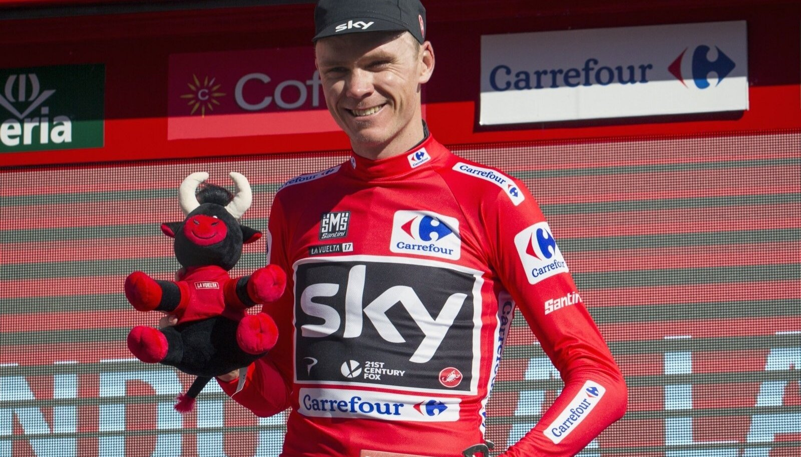 Chris Froome Vuelta poodiumil