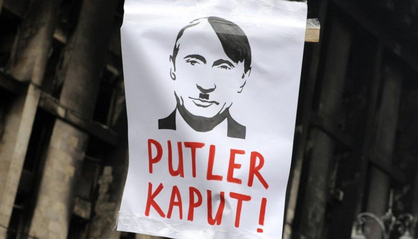 Plakat Kiievi meeleavaldusel.