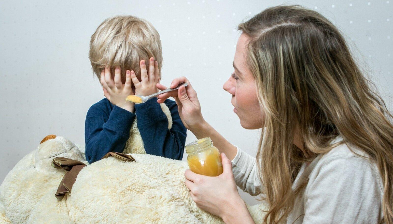 Laps on haige: illustratiivne pilt