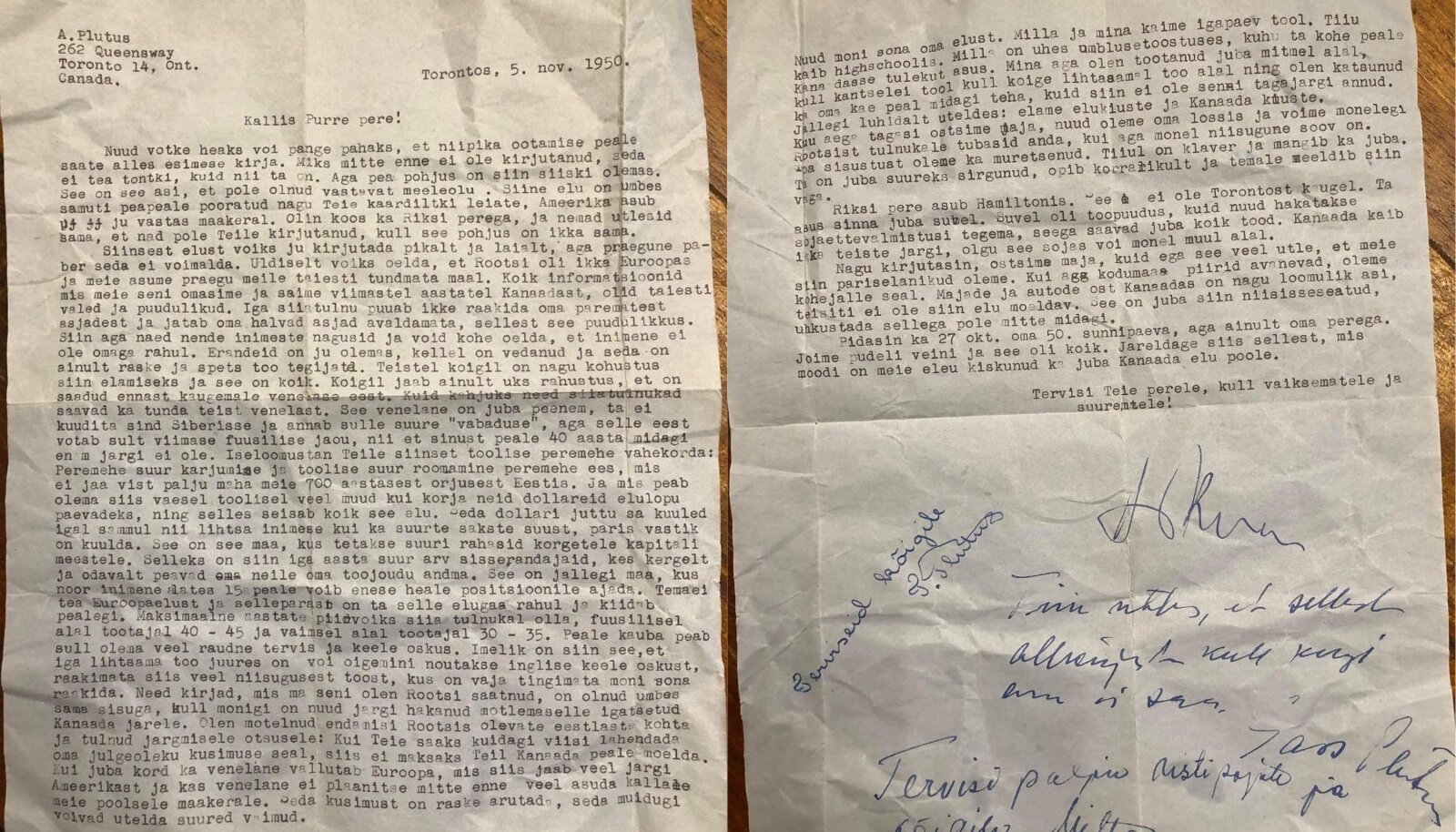 KAUGEL KODUST: USA-s, Lääne-Virginia osariigis, Charlestoni linnas leidis kohalik mees kraavist eestikeelse kirja.