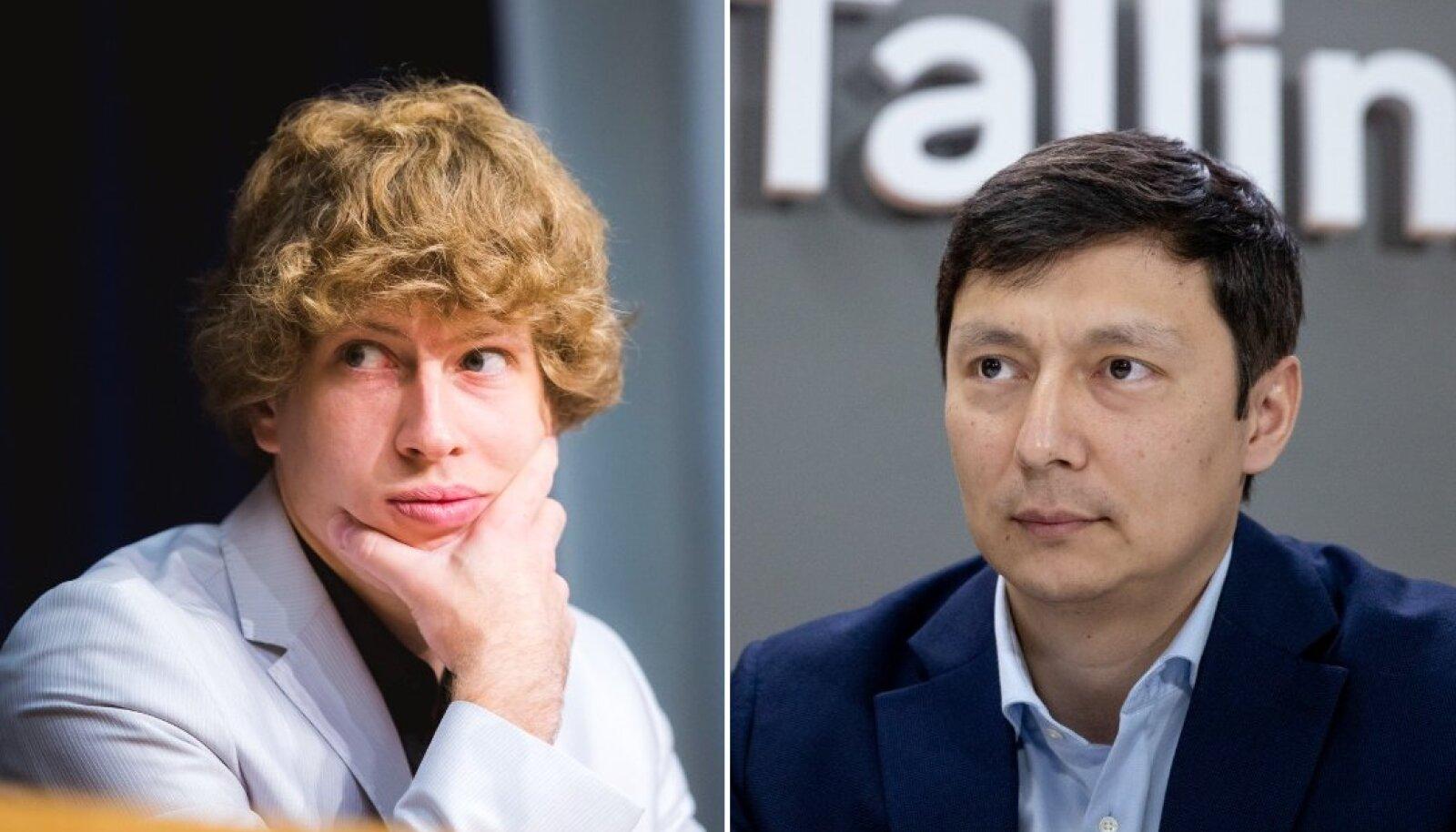 Vasakul Tanel Kiik, paremal Mihhail Kõlvart.