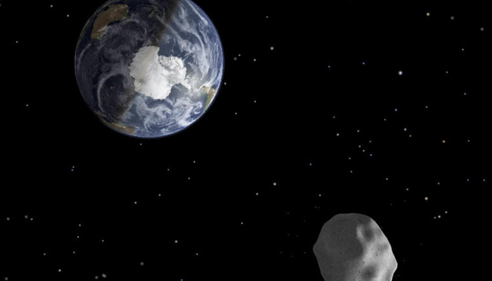Maa poole suunduv asteroid