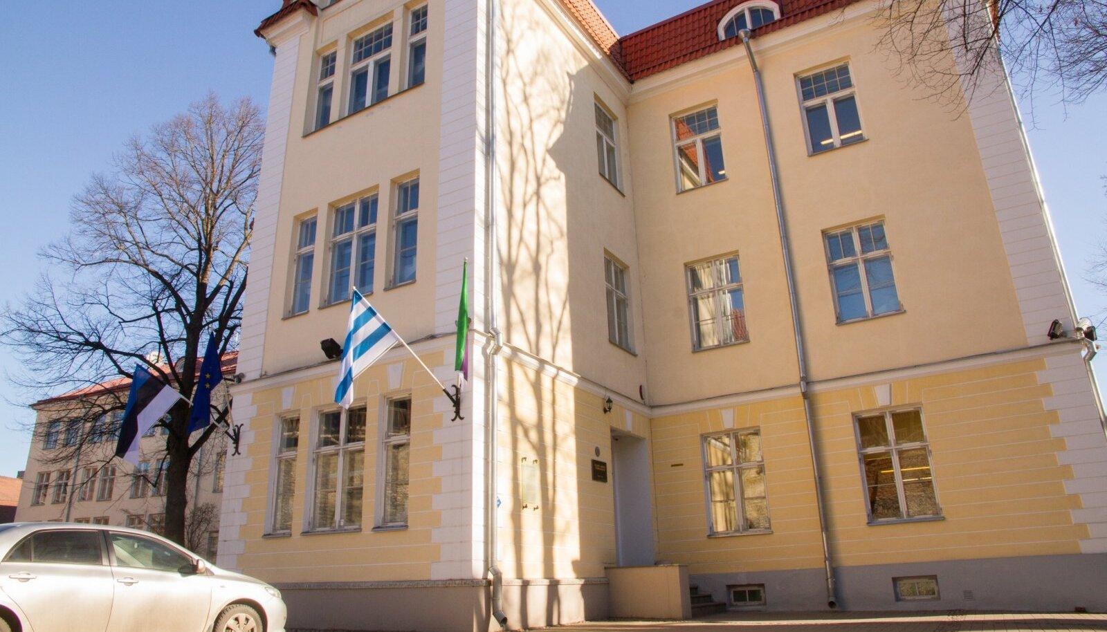 Gustav Adolfi gümnaasiumi koolimaja.