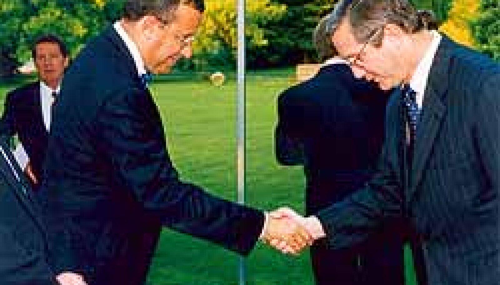 TOOMAS HENDRIK ILVES JA BRUCE PITCAIRN JACKSON (paremal): Dþentelmenid suruvad kätt demokraatia, NATO ja Lockheed Martini helgele tulevikule mõeldes.