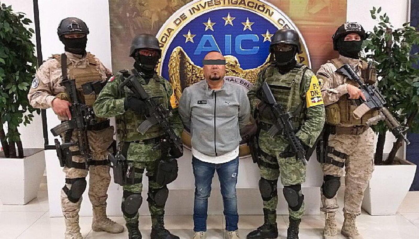 """Sel kuul tabatud maffiaboss José Antonio 'El Marro' (hisp k """"kuvalda"""")Yépez."""