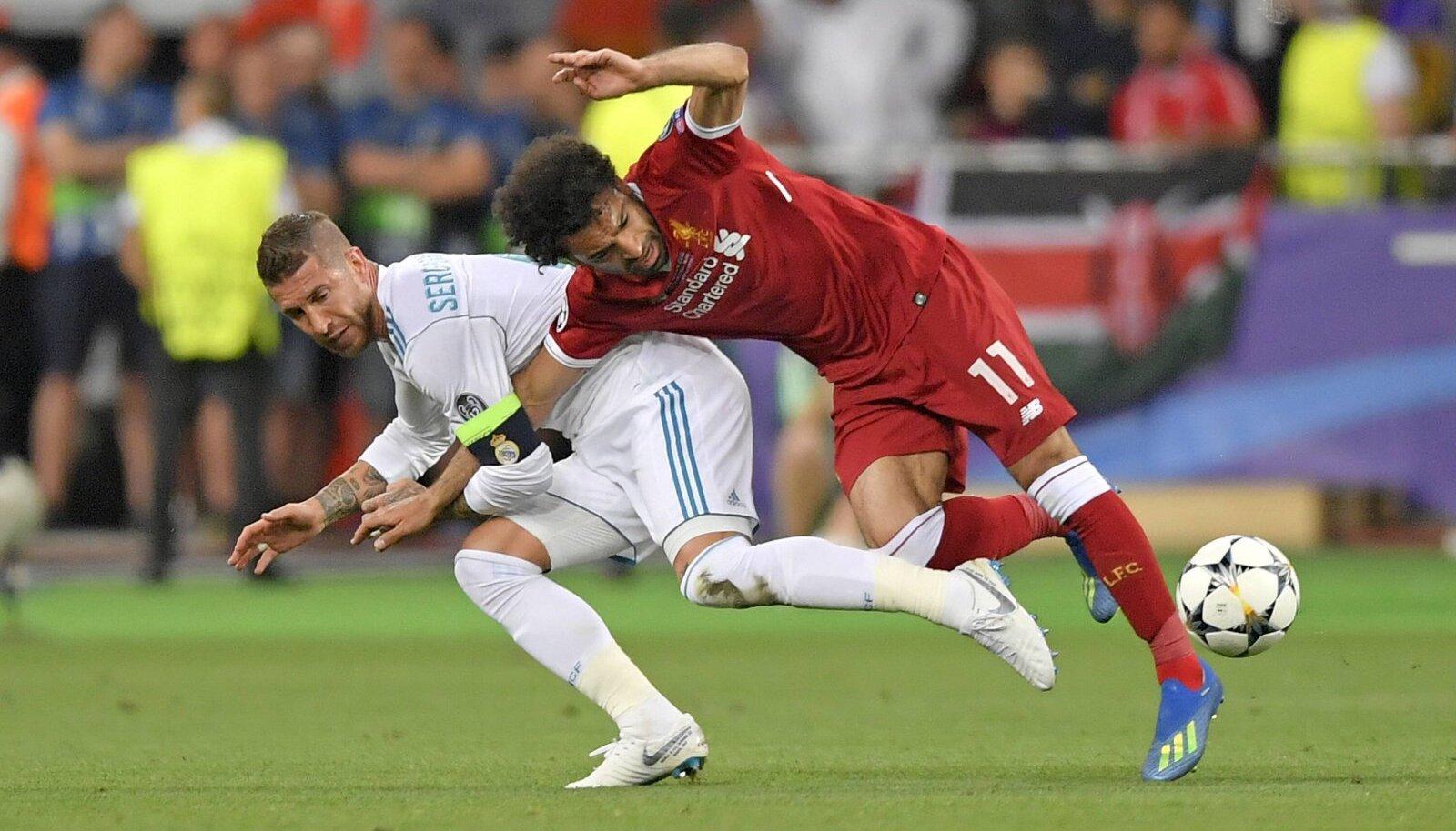 Sergio Ramos ja Mohamed Salah 2018. aasta finaalis