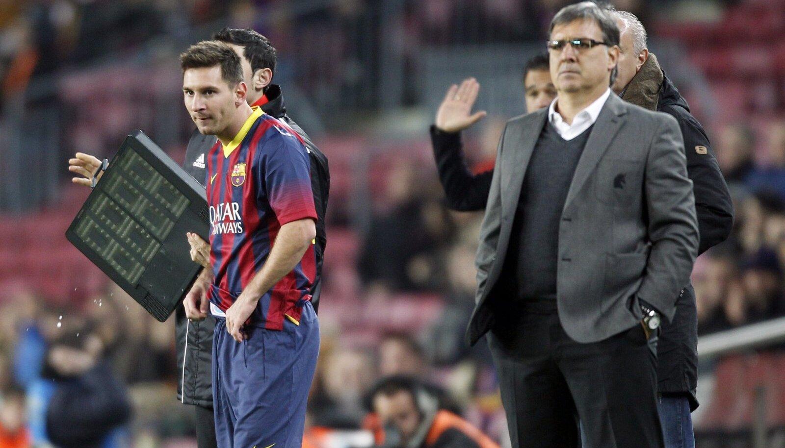 "Lionel Messi ja Gerardo ""Tata"" Martino"
