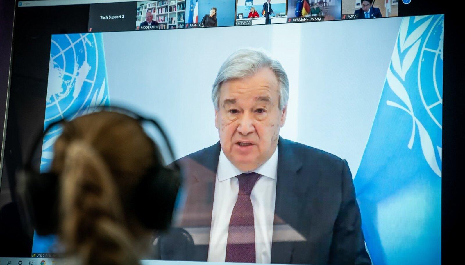 ÜRO peasekretär kõneles videokohtumisel 30 valitsusega.
