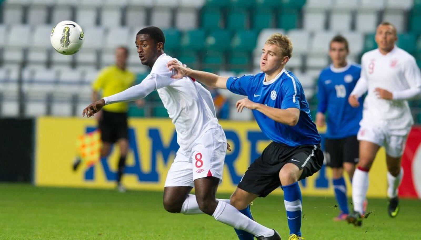 U19 jalgpalli EM-valikmäng: Eesti - Inglismaa