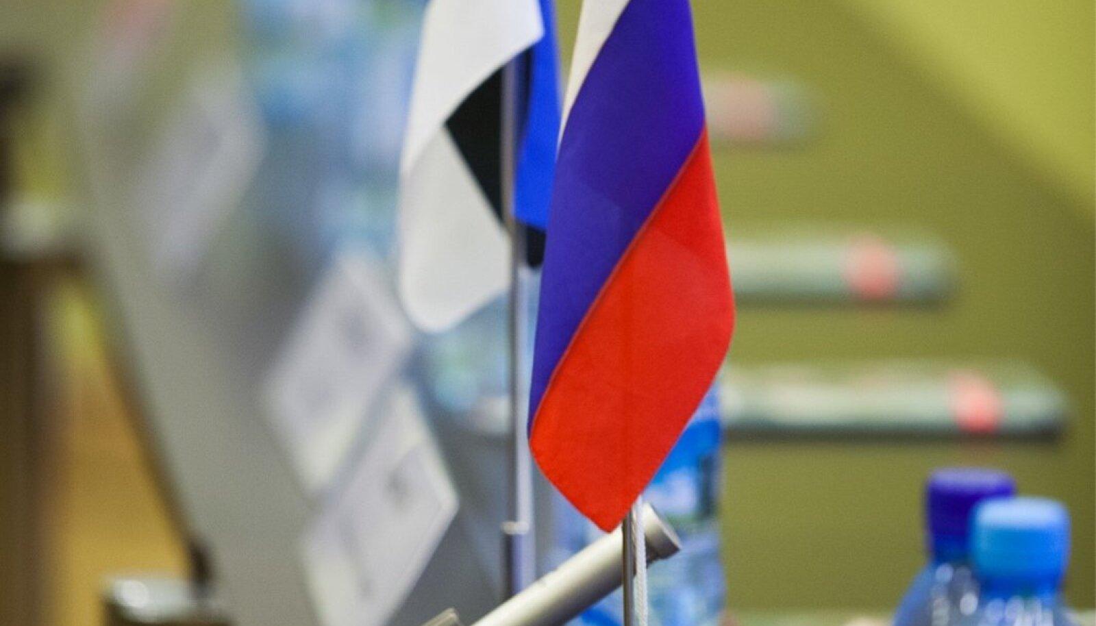 Eesti ja Venemaa lipud