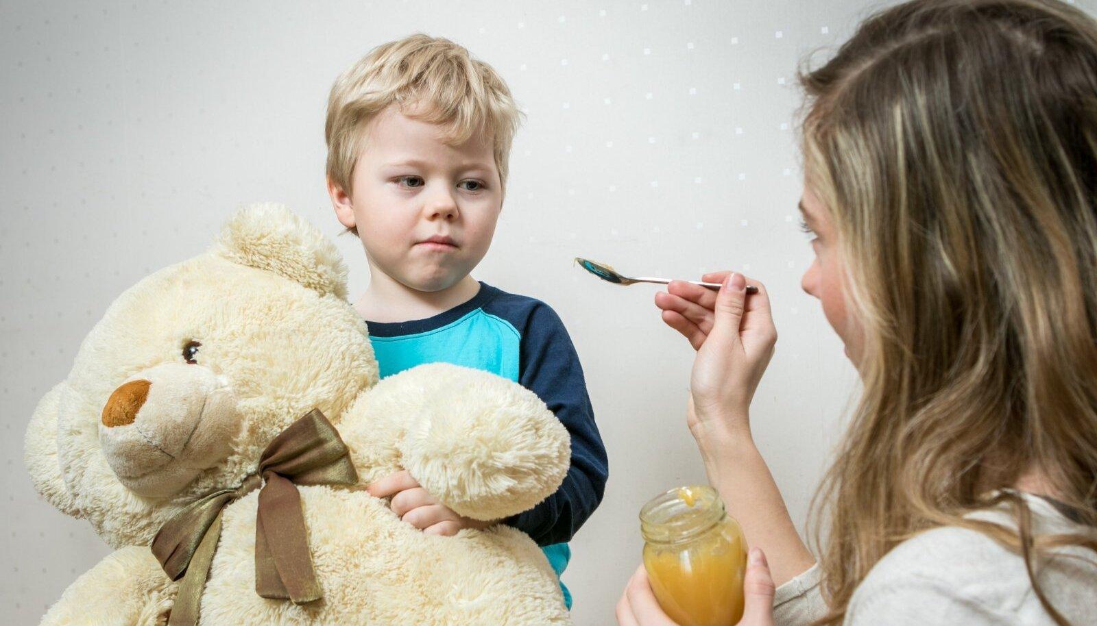 Laps on haige