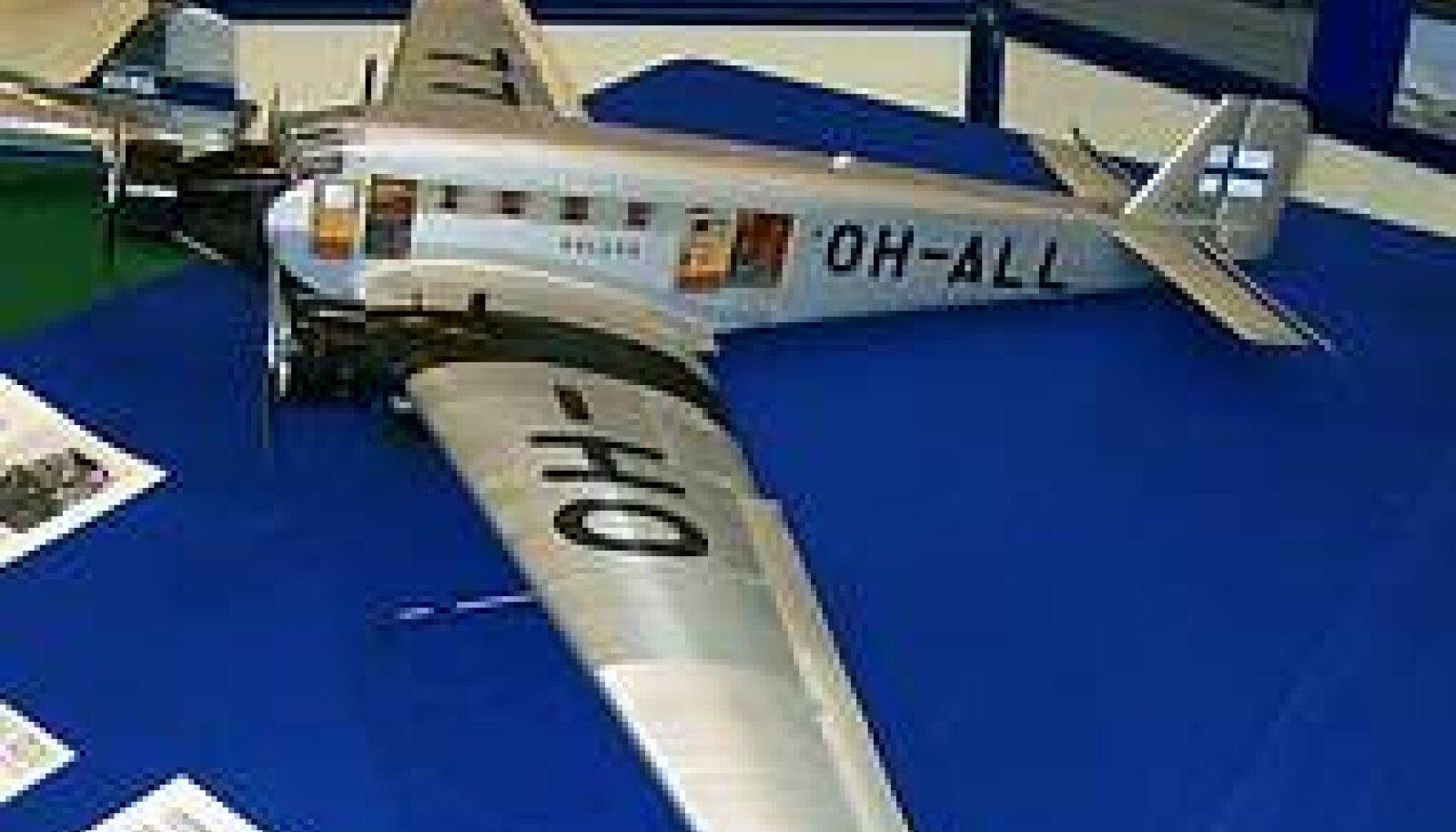 JÄLJETULT KADUNUD: Hoolimata Eesti meremuuseumi otsingutest pole Kaleva vrakki siiani merepõhjast leitud. Pildil lennuki makett Soome lennundusmuuseumis.