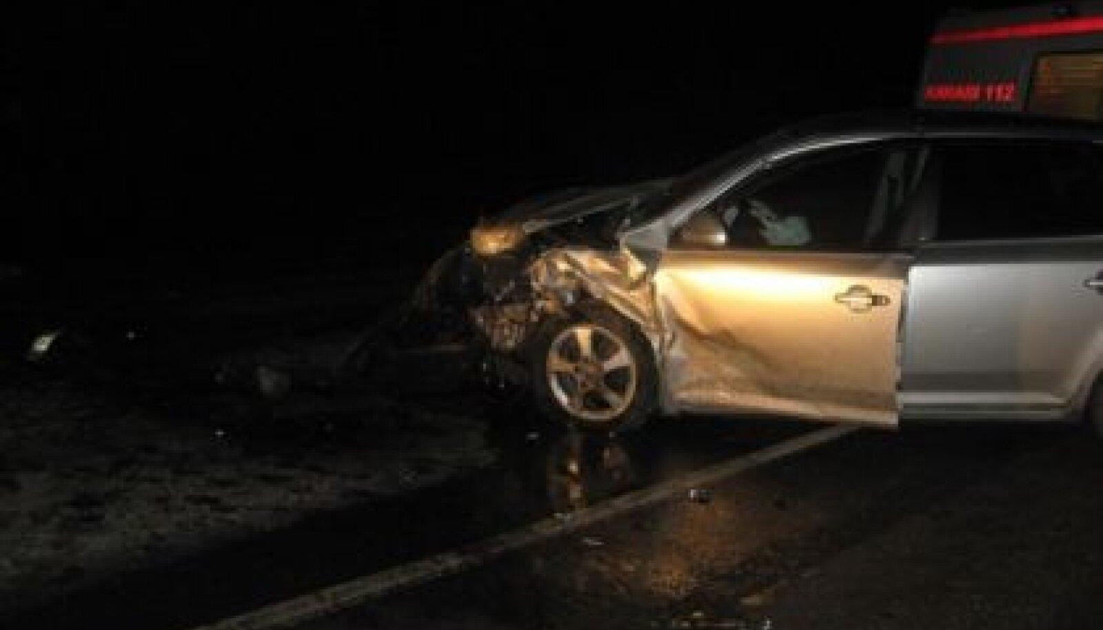 Pühapäeva õhtul toimunud avarii Kosel