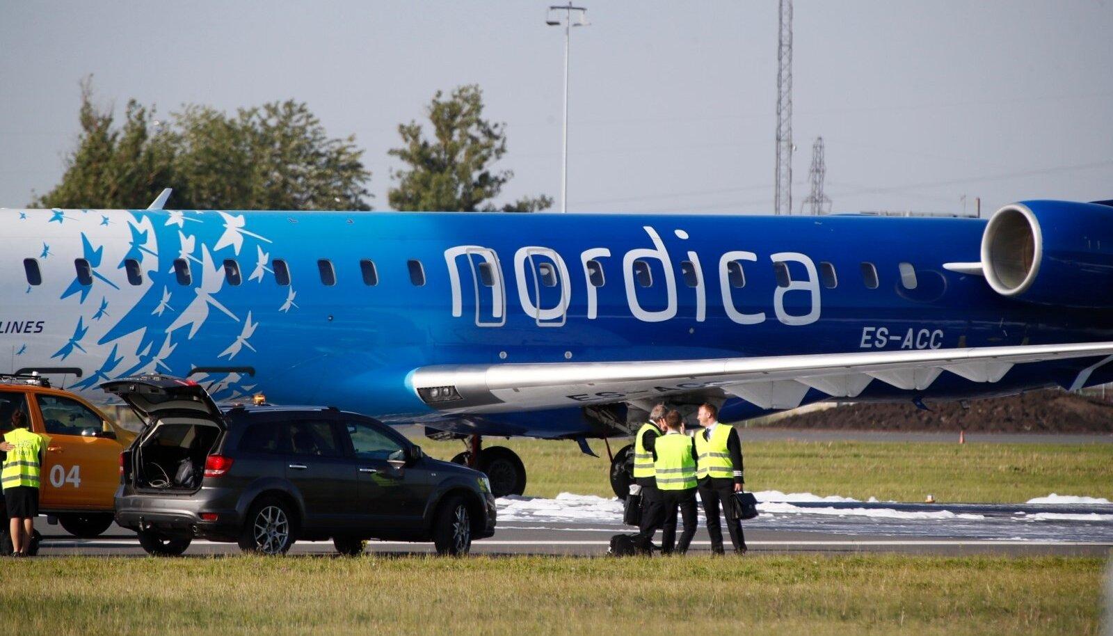 Nordica reisilennuk pidi tehnilise rikke tõttu otsa ümber pöörama.