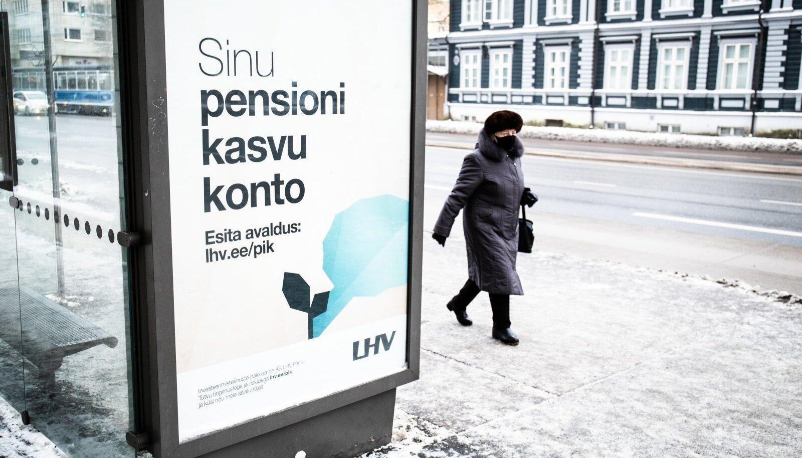 LHV pensioni investeerimiskonto välireklaam