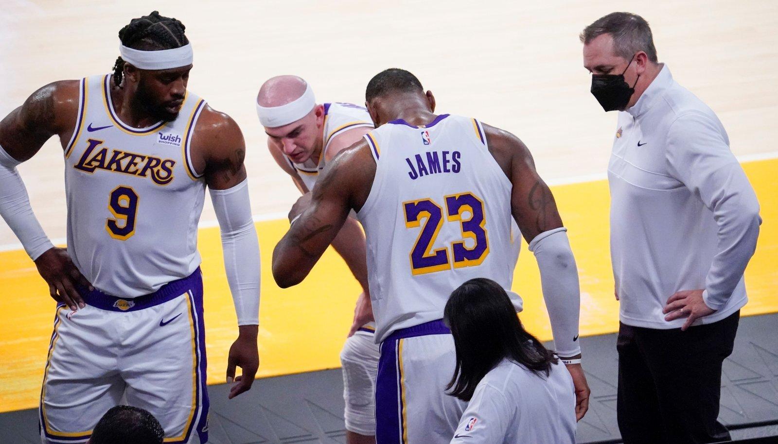 LeBron James sai vigastada ning jääb teadmata ajaks Lakersi mängudest eemale.