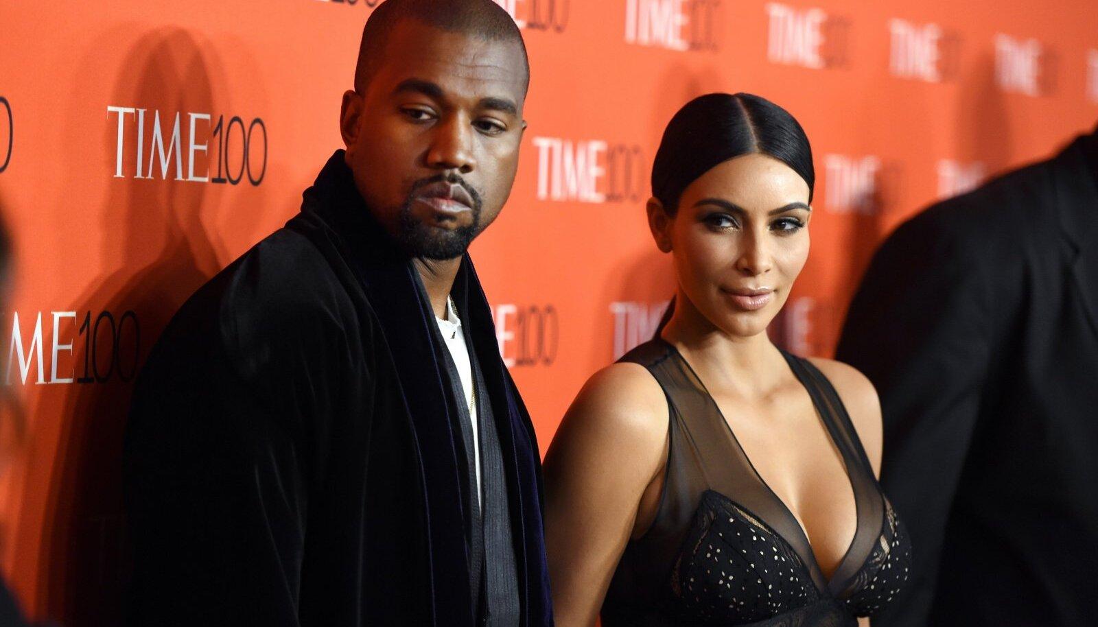 Kim Kardashian ja Kanye West Time 100 galal