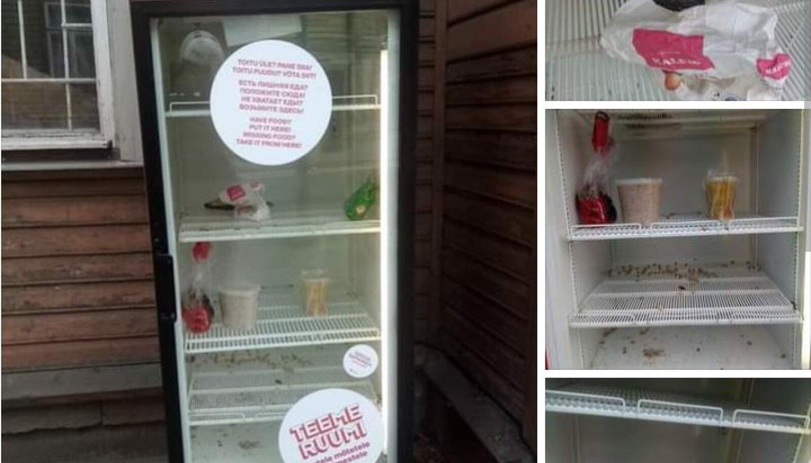 Kogukonna toidukapi korrashoiust tunti sotsiaalmeedias muret