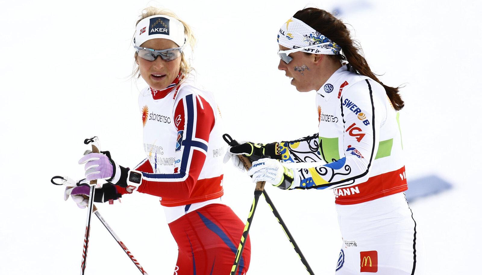 Therese Johaug ja Charlotte Kalla