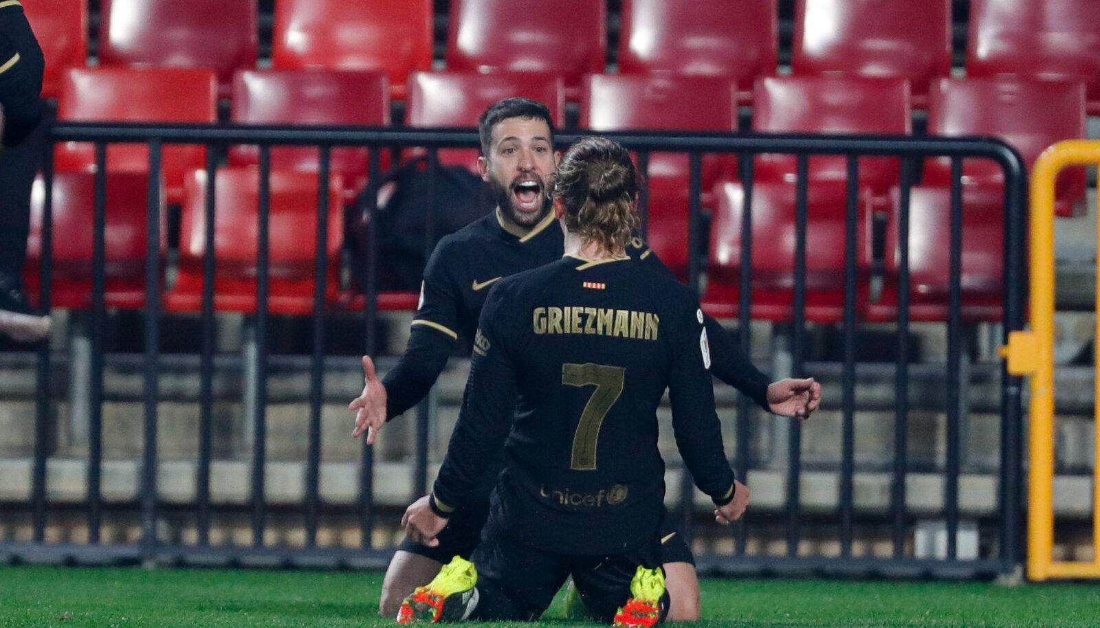 Nii Jordi Alba kui ka Antoine Griezmann lõid kaks väravat.