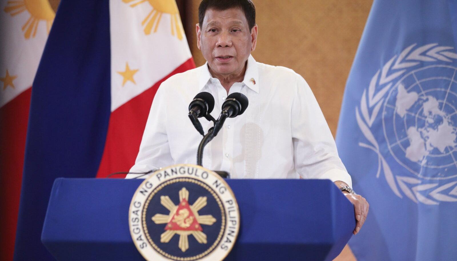 Filipiinide president Rodrigo Duterte loobub järgmistel valimistel kandideerimast.