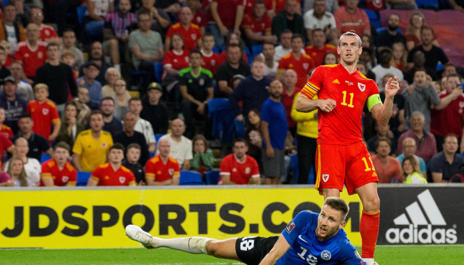 Gareth Bale ja Karol Mets septembrikuises valikmängus.