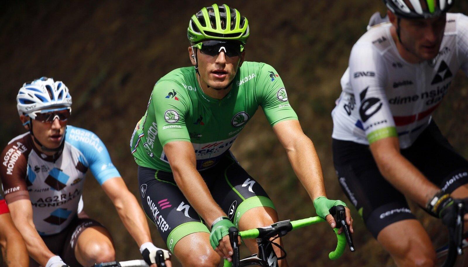 Marcel Kittel sprinterite punktiarvestuse rohelises särgis