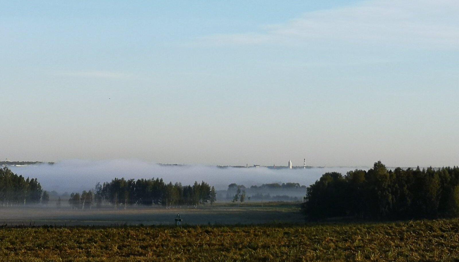 Tihe udu Tartu lähedal