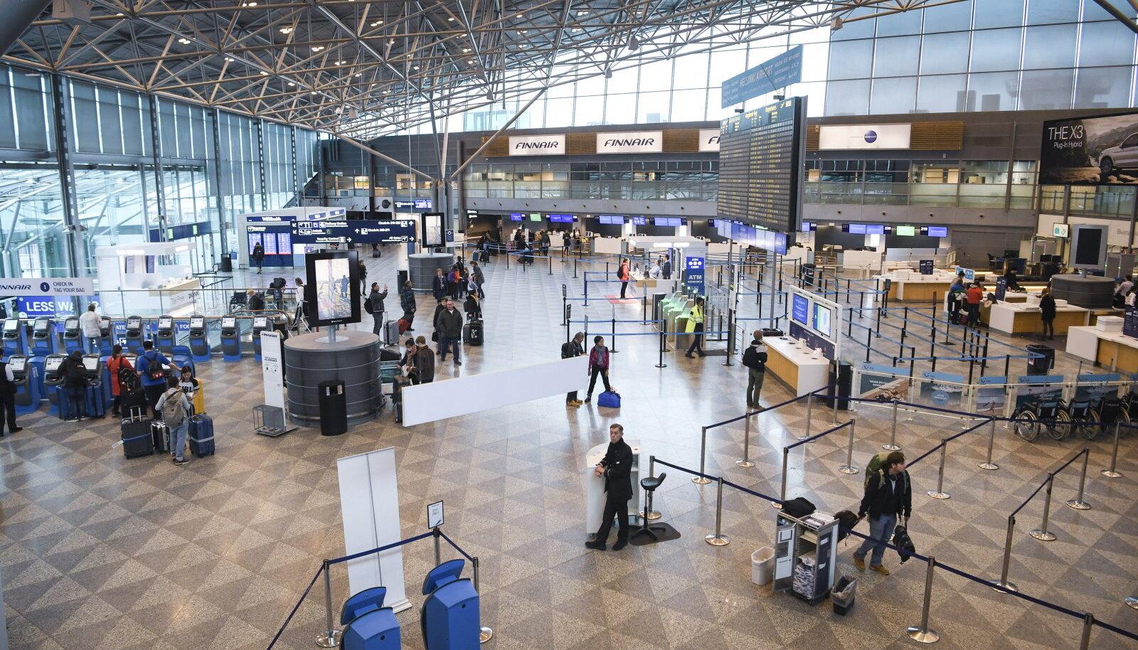 Tühjus Helsingi lennujaamas