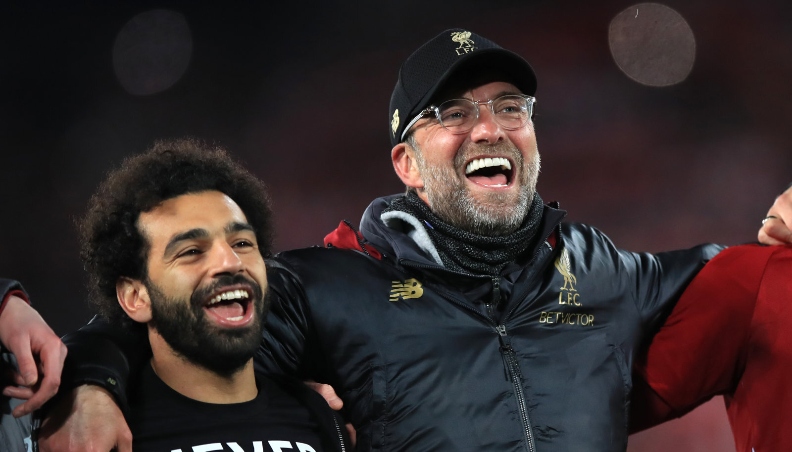 Jürgen Klopp ja Mohamed Salah.