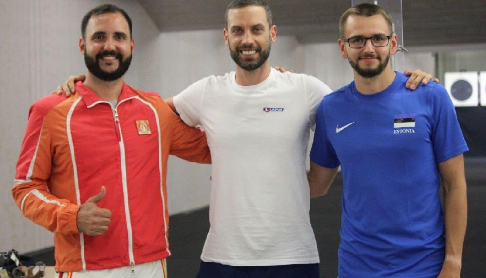Medalikolmik Ruslan Lunev, Riccardo Mazzetti, Peeter Olesk.