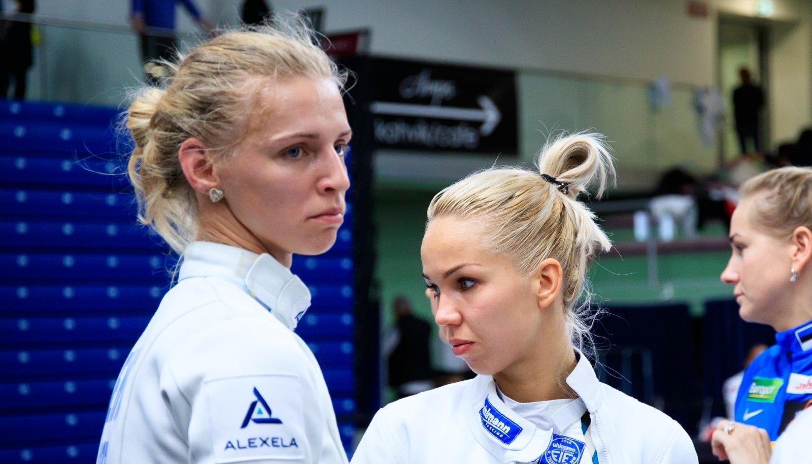 """Tallinn, 03.11.2019. Vehklemise MK-etapi """"Tallinna mõõk"""" naiskonnavõistlus Kalevi spordihallis."""