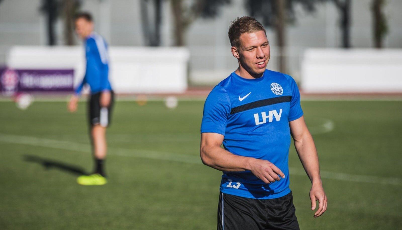 Trevor Elhi Eesti koondise trennis.