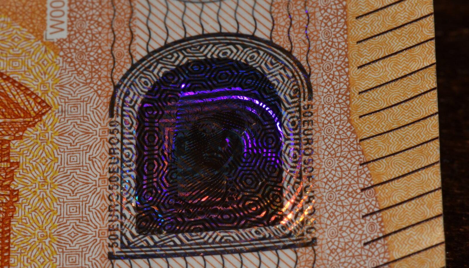 50-eurose hologramm