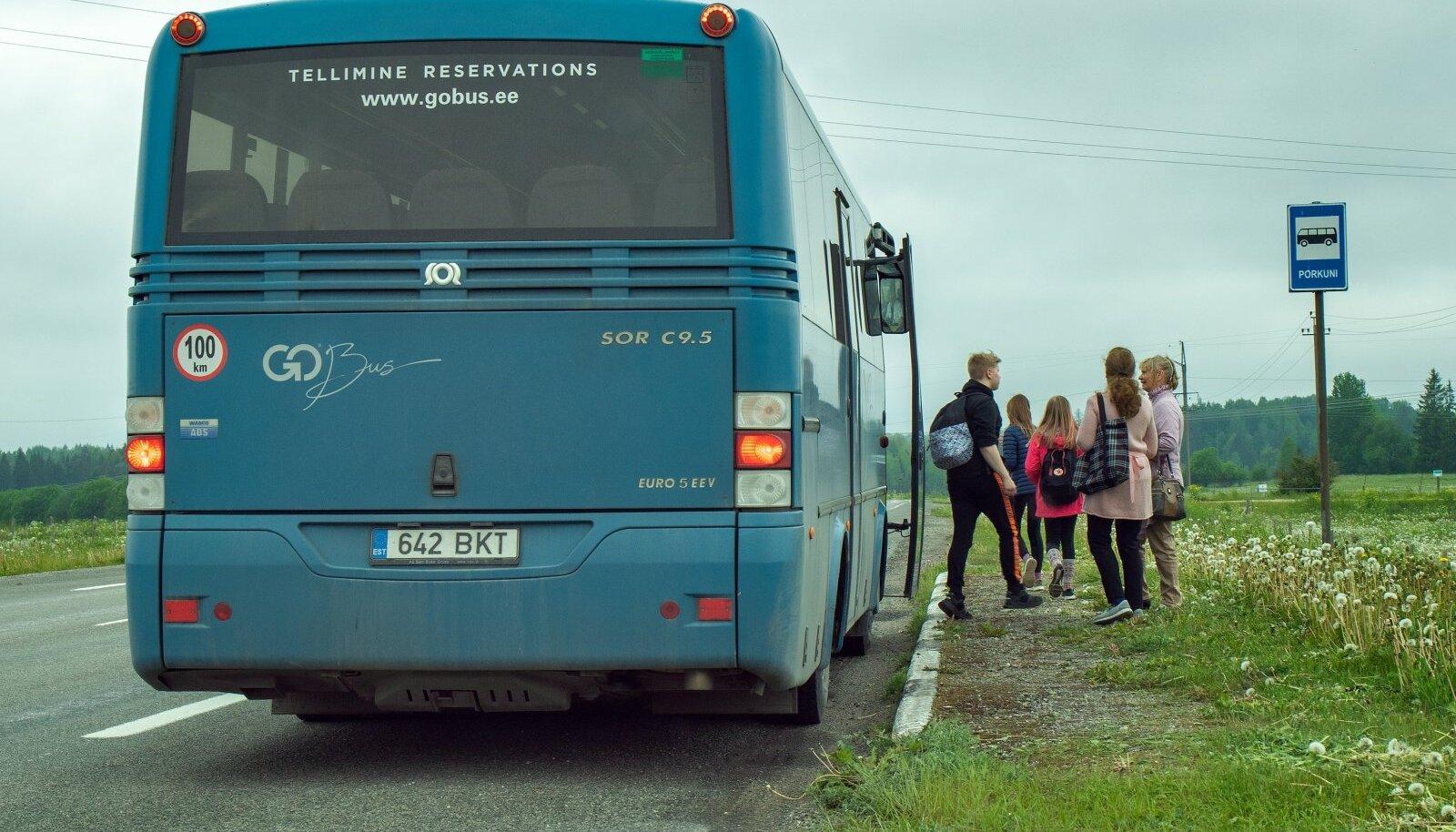 Go Bus,nõudepeatus, bussiliiklus, Rakvere - Järva Jaani liin