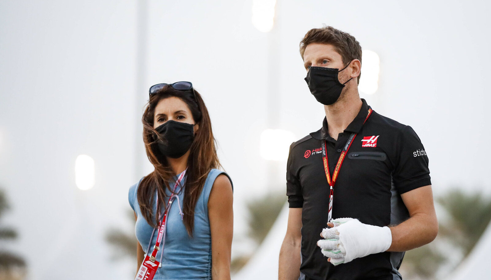 Romain Grosjean koos abikaasa Marion Jolles Grosjeaniga.