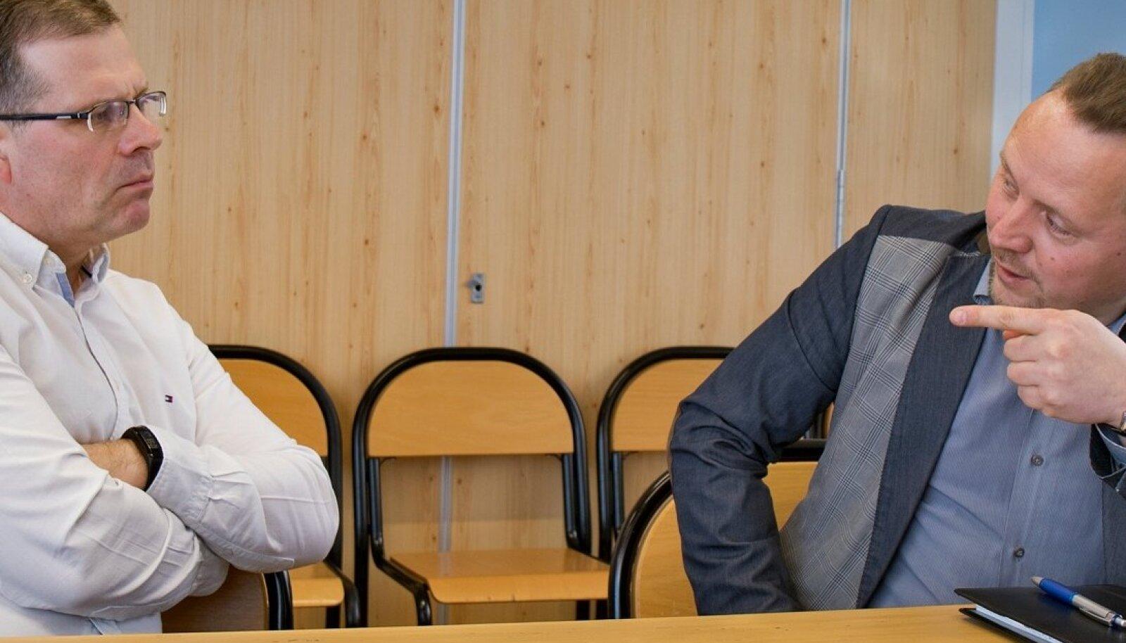 Priit Siitam (vasakul) ja Nikolai Pitšugov.