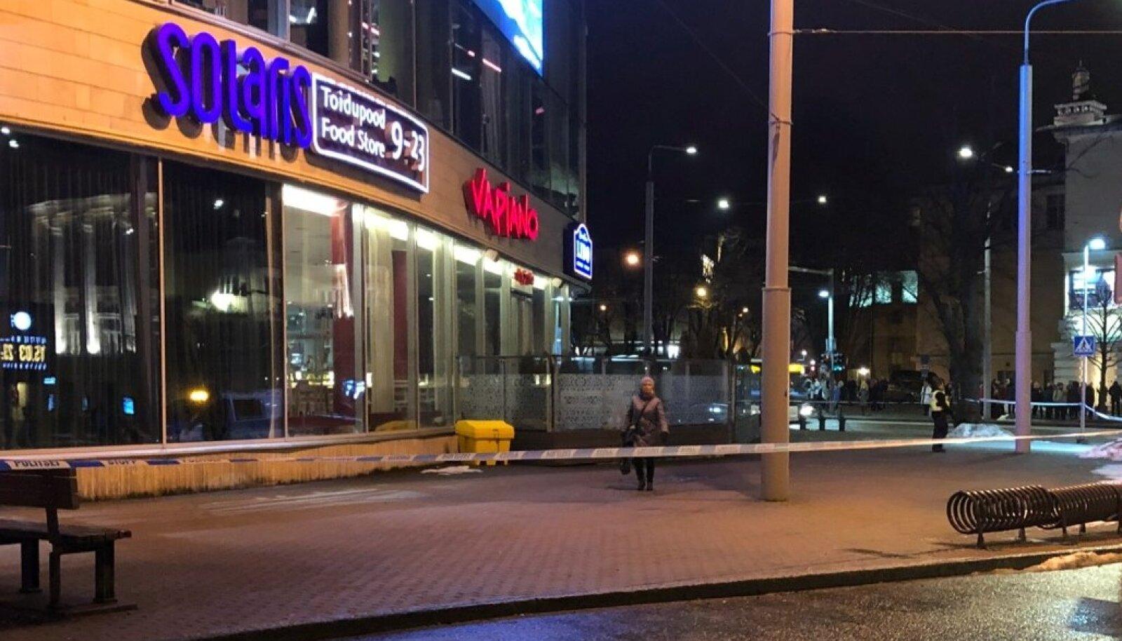 Solarise keskusele tehtud pommiähvardus, mis osutus rumalaks naljaks