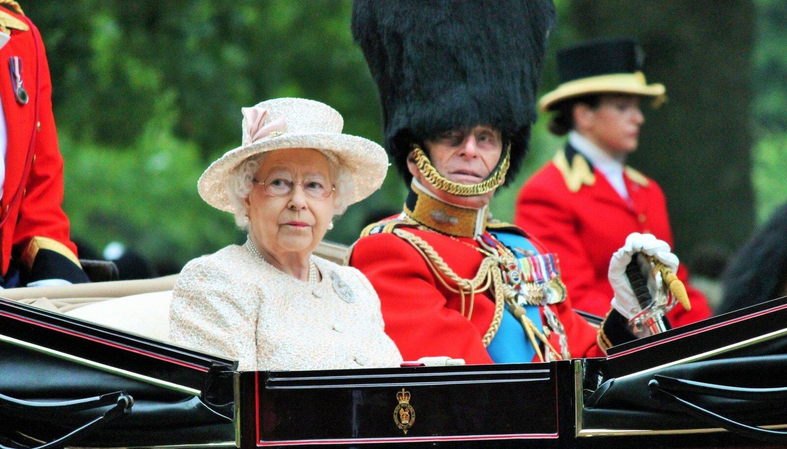 Kuninganna Elizabeth II ja prints Philip kuninganna sünnipäeval 13. juunil 2015. aastal.