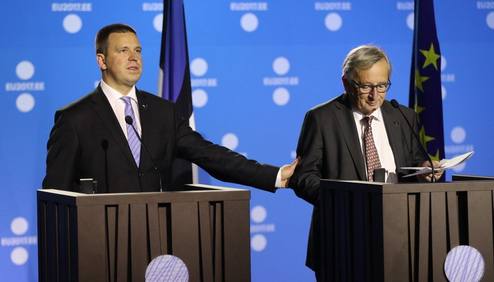 Peaminister Jüri Ratas ja Euroopa komisjoni president Jean-Claude Juncker