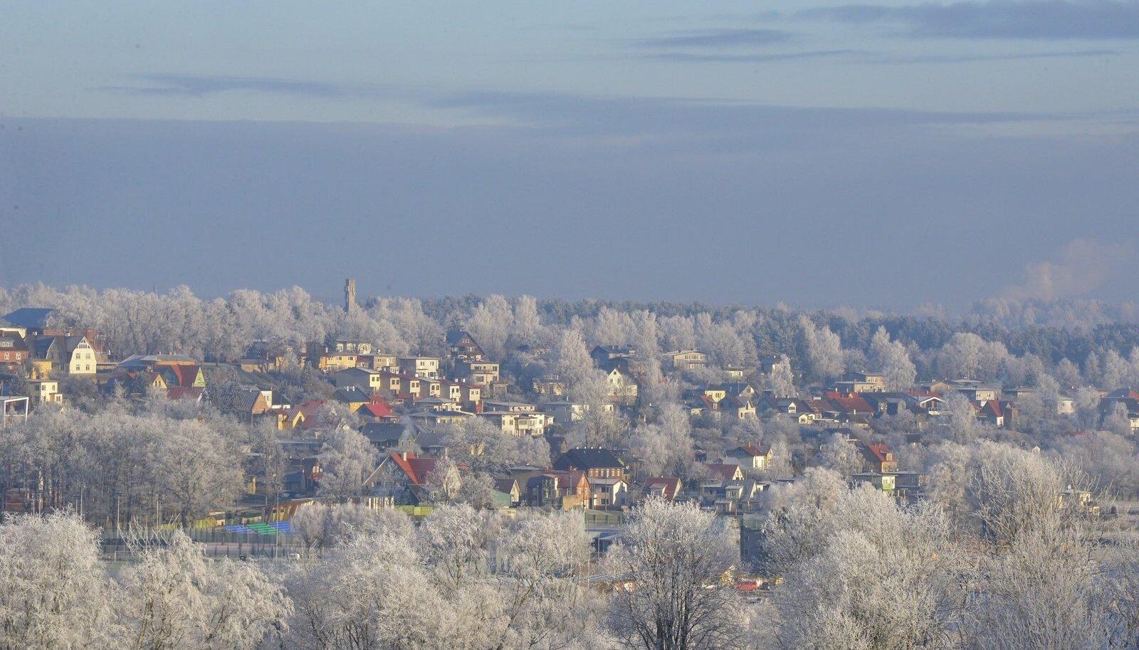 Hommikune härmatis Viljandimaal