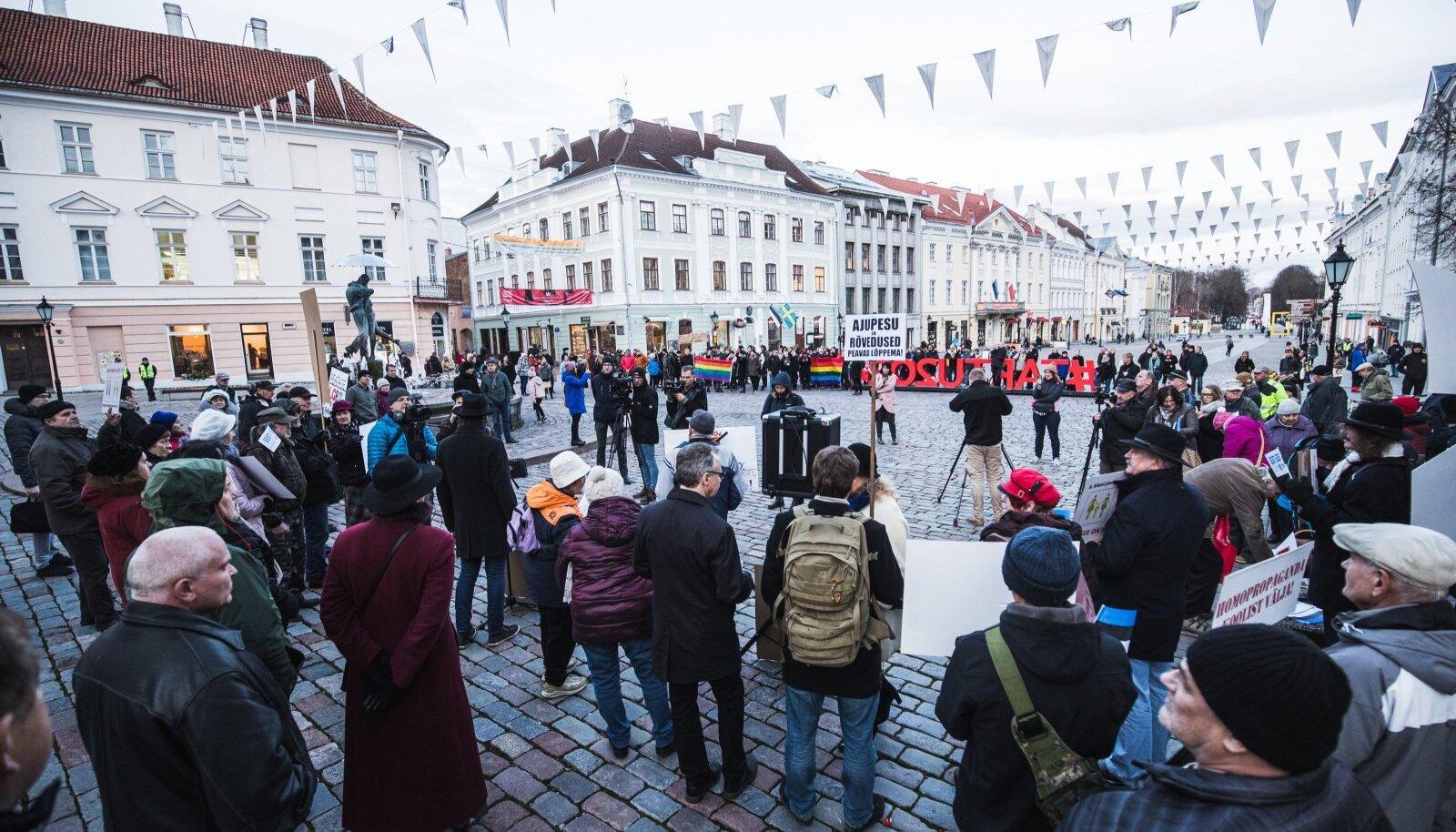 EKRE meeleavaldus Tartus LGPT ühenduse vastu