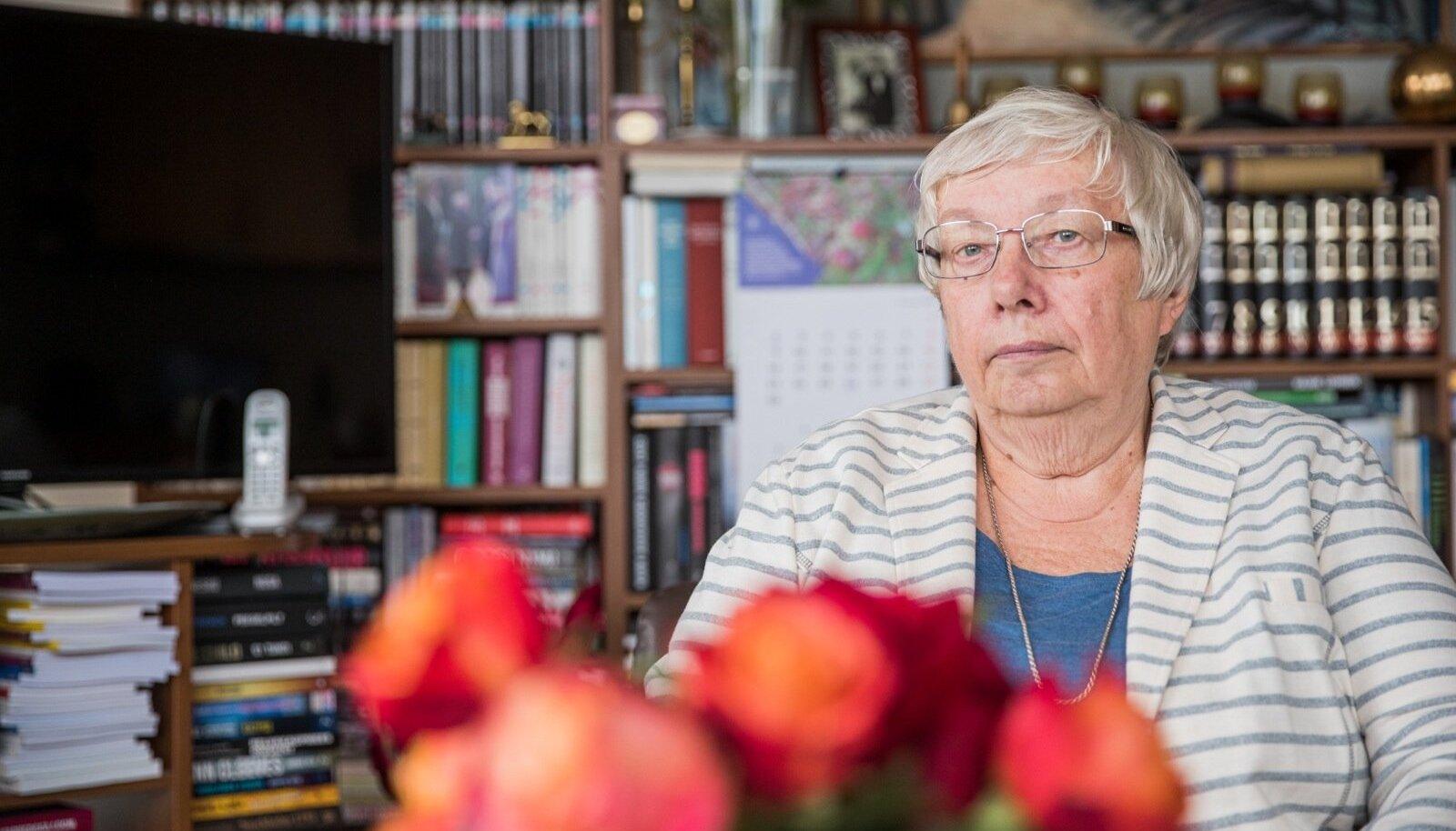 Marju Lauristin oma kodus Tartus.