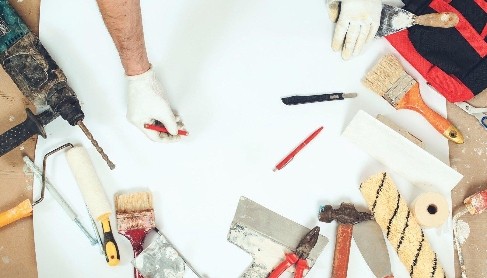 Enne remontima asumist koostage tööde plaan ning soetage vajalikud töövahendid ja materjalid.