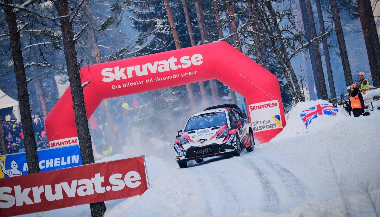 Jari-Matti Latvala 2018. aasta Rootsi ralli 13. kiiruskatsel Colins Crestil.