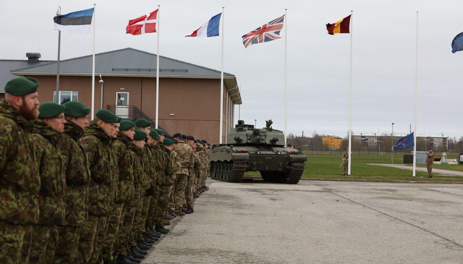 Harjutuse Tractable käigus Eestisse jõudnud Ühendkuningriigi üksus alustas teenistust
